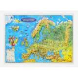 Harta Europei pentru copii, proiectie 3D, format A3 (3DGHECP430)
