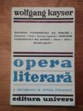 OPERA LITERARA-WOLFGANG KAYSER BUCURESTI 1979