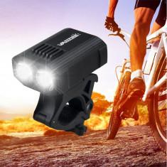 FAR cu 2 LEDuri lumini bicicleta cu incarcare USB, trotineta electrica, scuter