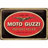 Placa metalica - Moto Guzzi - Logo Motorcycles- 20x30 cm