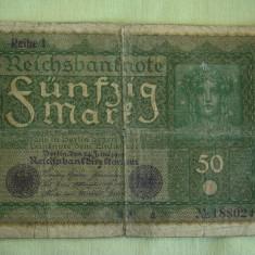 50 Mark / Marci 1919 GERMANIA Reihe 1 - Lot de 2 Bucati
