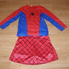 Costum carnaval serbare spiderman spidergirl pentru copii de 7-8 ani, Din imagine