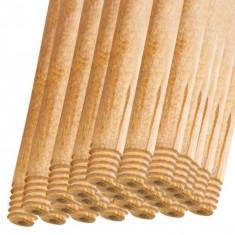 25 x Coada din lemn natur, cu filet, pentru matura, mop, 120cm