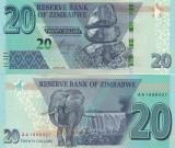 Zimbabwe 20 Dollars 2020 UNC