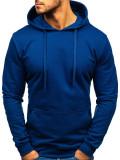 Bluza cu glugă pentru bărbați bleumarin Bolf 5361