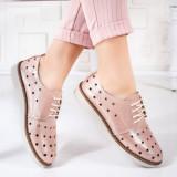 Pantofi Piele Calerini roz casual