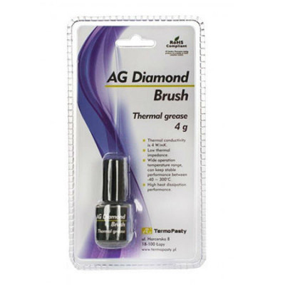 Pasta termoconductoare pe baza de praf de diamant Diamond Brush, 4 grame foto