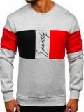 Bluză gri cu imprimeu bărbați Bolf KS2218