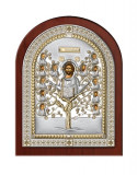 Icoana Argintata, Pomul Vietii, 14.5x18.5cm, Aurie Cod Produs 2607