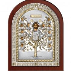 Icoana Argintata Pomul Vietii 14.5x18.5cm Aurie Cod Produs 2607