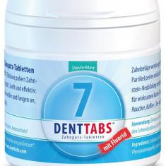 Tablete pentru curatarea dintilor cu menta si stevie, cu fluor - 125 tablete Denttabs