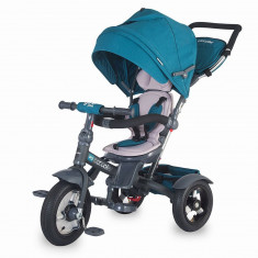 Tricicleta Coccolle Giro Plus multifunctionala - Albastru