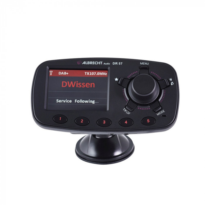"Resigilat : Bluetooth auto Albrecht DR 57, DAB/DAB+, 2.4"", USB"