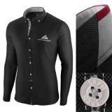 Camasa pentru barbati neagra slim fit Leon Classic