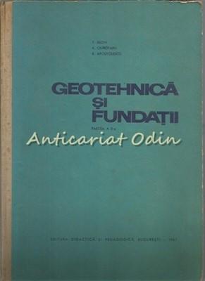 Geotehnica Si Fundatii II - T. Silon, V. Ciubotaru - Tiraj: 630 Exemplare