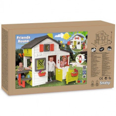 Casuta Smoby Friends Playhouse cu gradina