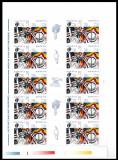 Romania 2002, LP 1581 b, United we stand, coala de 10, MNH! LP 150,00 lei. RARA!