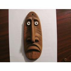 PVM - Masca aplica (mai) veche africana Africa ceramica deosebita impecabila