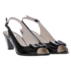 Sandale dama, piele naturala, toc gros, Daniela