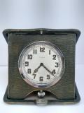 Ceas Calatorire/Birou,8zile,Cutie piele,anii '20 IWC,Longines ,Omega,Lemania