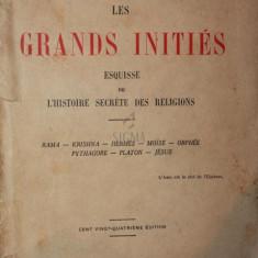 LES GRANDS INITIES ESQUISSE DE L HISTOIRE SECRETE DES RELIGIONS - EDOUARD SCHURE