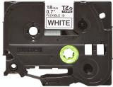 Banda continua laminata flexibila Brother TZEFX241 18mm 8m Negru pe Alb