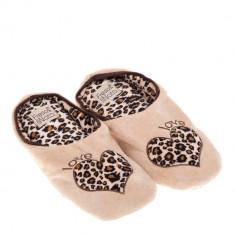 Papuci de casa pentru copii Alegra bej