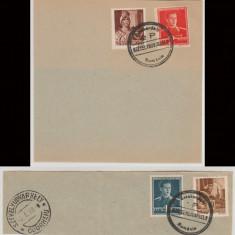 1945 Romania - Suveniruri filatelice cu stampile valorice Odorhei 1 si 2 Pengo