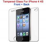 Folie sticla securizata Iphone 4/4S Fata/Spate, transparenta, A+