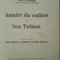Creanga, Amintiri din copilarie, Editia ASTRA, Sibiu, 1914