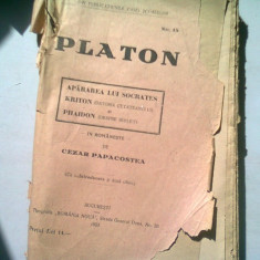 PLATON - APARAREA LUI SOCRATES TRADUCERE DE CEZAR PAPACOSTEA