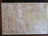 Harta militara 1917,zona Tg.Ocna, Adjud si imprejurimile,70x90 cm,caserata