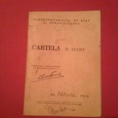 Cartela produse de stricta necesitate ,octombrie 1944,paine ,panza