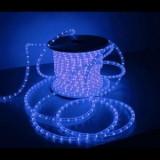 Instalatie pentru Craciun tip furtun luminos 100m 2300 leduri albastre