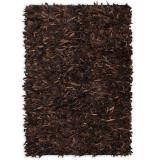 Cumpara ieftin Covor fire lungi, piele naturală, 160x230 cm, Maro