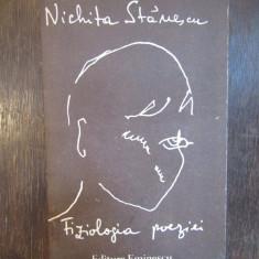 FIZIOLOGIA POEZIEI -NICHITA STANESCU