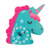 Cumpara ieftin Ceas de perete pentru copii in forma de unicorn, Pufo