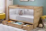 Patut din pal cu sertar, pentru bebe Mocha Baby II Nature, 140 x 70 cm