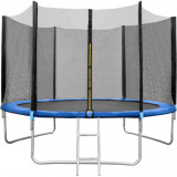Set trambulina 180 cm cu plasa si scarita In One IO0027