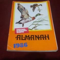 ALMANAH VANATORUL SI PESCARUL SPORTIV 1986