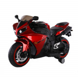 Motocicleta electrica cu roti ajutatoare Aspen Red, Moni