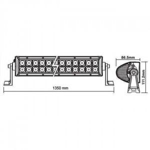 Bara proiectoare LED Auto Offroad 300W/12V-24V, 21.980 Lumeni, 52″/133 cm, Combo Beam 8/90 Grade