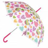 Umbrela pentru copii, model inimi colorate, 48,5cm