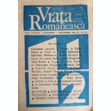 Viata Romaneasca, anul LXXXVI, nr. 11-12/decembrie 1991