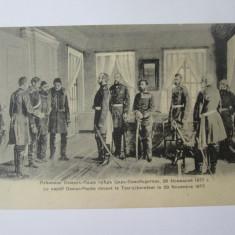 Cumpara ieftin Rara!C.P.Osman Pașa captiv in fata Țarului Alexandru II,in centru regele Carol I