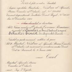 ROMANIA 1940 BREVET   CAROL  al II-lea    REGE  AL  ROMANIEI