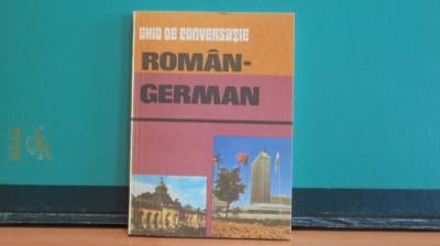 GHID DE CONVERSATIE ROMAN- GERMAN - EDITURA SPORT- TURISM - 184 PAGINI. foto