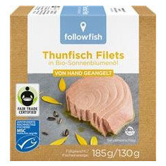 File de Ton in Ulei de Floarea Soarelui Bio 185gr Followfish Cod: 561543