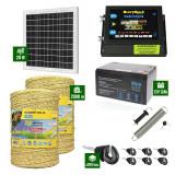 Pachet Gard electric 6,6j putere cu Panou Solar si 2000m de fir 160Kg
