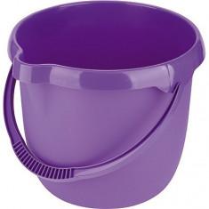 Galeata din plastic rotunda, 12L, culoare mov // ELFE Rusia